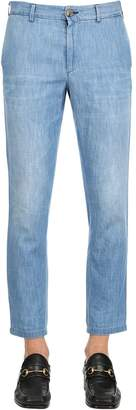 Gucci Stone Bleached Cotton Chambray Pants