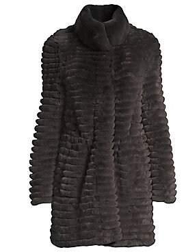 Glamour Puss Glamourpuss Women's Rex Rabbit Fur Knit-Blend Jacket