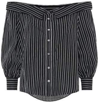 Veronica Beard Brita striped linen-blend top