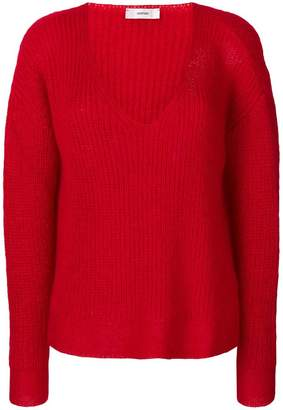 Mauro Grifoni drop shoulder V-neck sweater