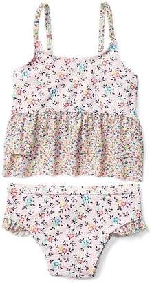 Print peplum swim two-piece $24.95 thestylecure.com