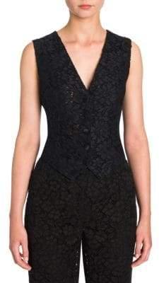Dolce & Gabbana Lace Button-Front Vest