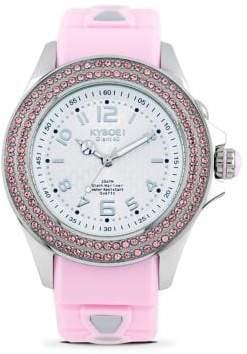 Swarovski KYBOE Radiant Whimsy Crystal& Silicone Strap Watch/Pink
