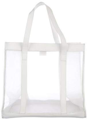 Gucci Leather-Trimmed Mesh Tote