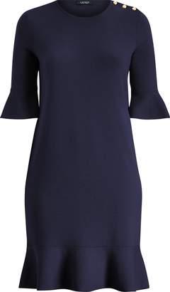 Ralph Lauren Ruffled Cotton-Blend Dress