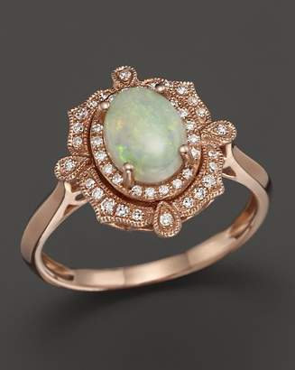 Bloomingdale's Opal and Diamond Antique Inspired Ring in 14K Rose Gold - 100% Exclusive