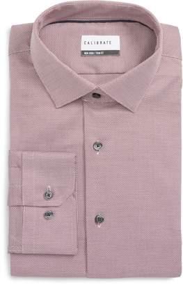 Calibrate Trim Fit Stretch No-Iron Solid Dress Shirt