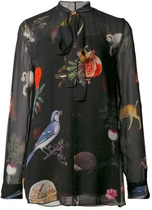 Oscar de la Renta nature print blouse