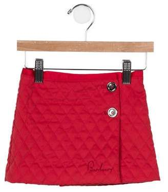 Burberry Girls' Quilted A-Line Skirt