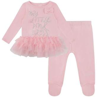 GUESS GuessGirls Pink Dress & Leggings Set
