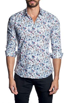 Jared Lang Men's Floral-Print Long-Sleeve Button-Down Shirt