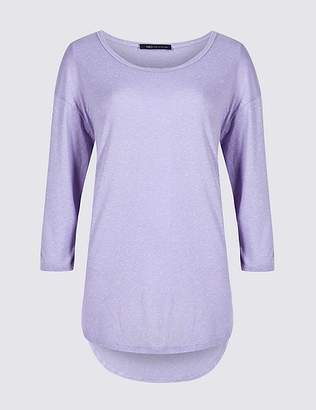 Marks and Spencer Dropped Shoulder Round Neck 3/4 Sleeve Top