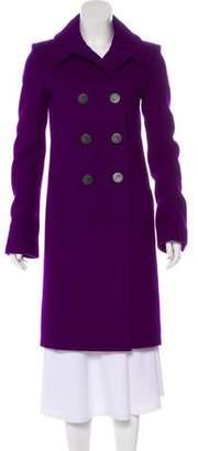 Balenciaga Double-Breasted Notch-Lapel Coat