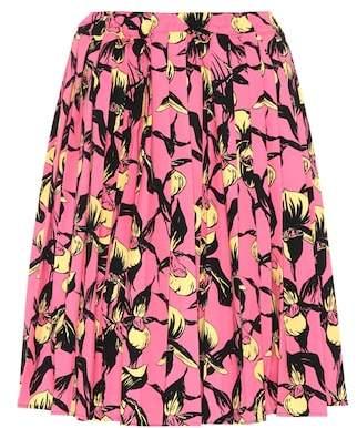 Prada Pleated cotton skirt