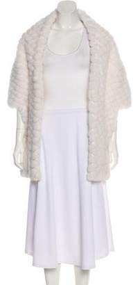 Michael Kors Quilted Mink Shawl