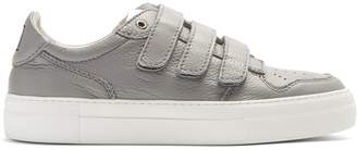 Ami Logo-embroidered low-top leather trainers