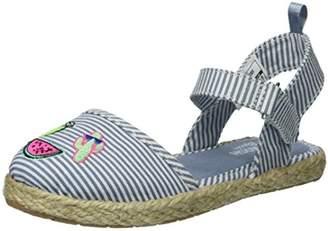 Osh Kosh Georgette Girl's Closed Toe Espadrille Sandal Mary Jane Flat