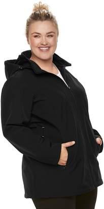 ZeroXposur Plus Size Nicky Soft Shell Hooded Jacket