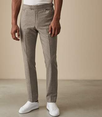 Reiss Our last order date for Christmas has now passed HUTTON SLIM FIT TROUSERS Oatmeal