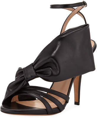 Valentino Large Bow Leather Sandal