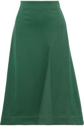 Tibi Flared Twill Midi Skirt