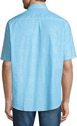 Bugatchi Classic-Fit Haven Short-Sleeve Sport Shirt