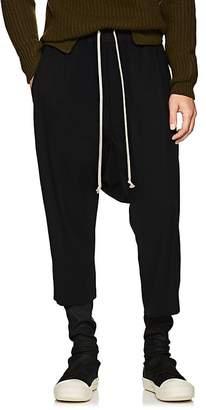 Rick Owens Men's Drawstring-Waist Virgin Wool Crop Trousers