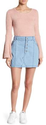 BB Dakota Light Wash Denim Skirt