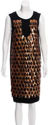 Marni Embellished Virgin Wool Dress