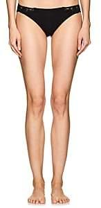 La Perla Women's Souple Cotton-Blend Jersey & Lace Thong-Black
