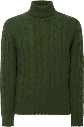 Fioroni Cable-Knit Cashmere Turtleneck Sweater