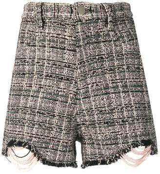 IRO fitted tweed shorts