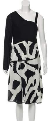 Proenza Schouler One Shoulder Midi Dress w/ Tags Black One Shoulder Midi Dress w/ Tags