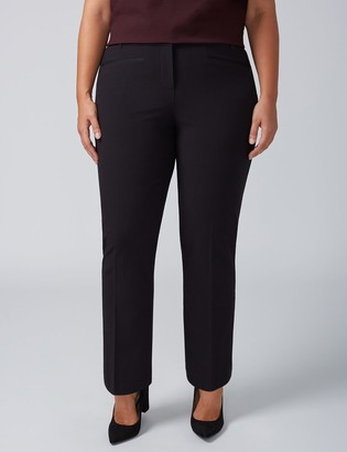 Lane Bryant Allie Tailored Stretch Straight Leg Pant with Grosgrain Trim Pockets