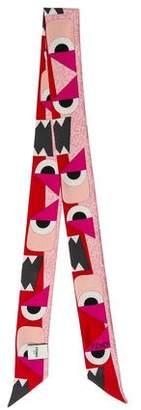 Fendi Monster Silk Twilly w/ Tags