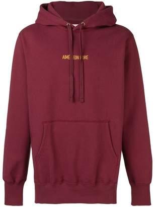 Leon Aimé Dore embroidered logo hoodie