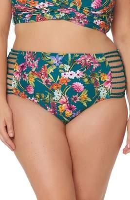 Jessica Simpson Floral Print Bikini Bottoms