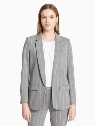 Calvin Klein striped shawl collar jacket