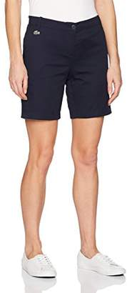 Lacoste Women's Stretch Gabardine Bermuda Short 7""