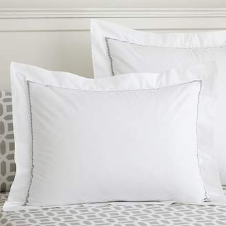 Pottery Barn Teen Pop Dot Duvet Cover, Standard Sham, Light Gray