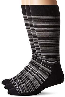 Hue Men's Multistripe Sock with Half Cushion