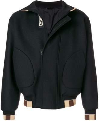Fendi concealed fastening bomber jacket