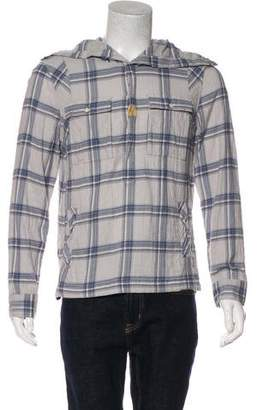 AllSaints Cowl Neck Plaid Shirt