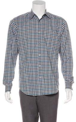 Theory Gingham Button-Up Shirt