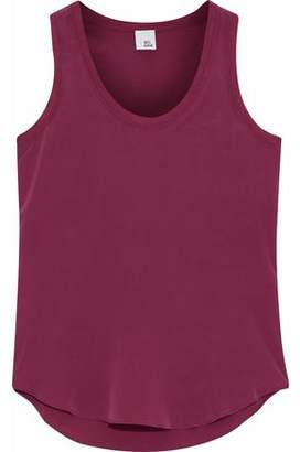 Paige Iris & Ink Modal-Trimmed Washed-Silk Tank