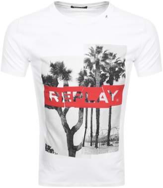 Replay Crew Neck T Shirt White