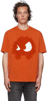 McQ Orange and White Chester T-Shirt
