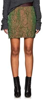 Officine Generale Women's Flora Wrinkled Twill Miniskirt