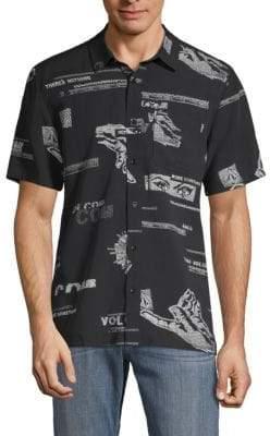 Volcom Graphic Short-Sleeve Button-Down Shirt