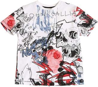 John Galliano Printed Cotton Jersey T-Shirt